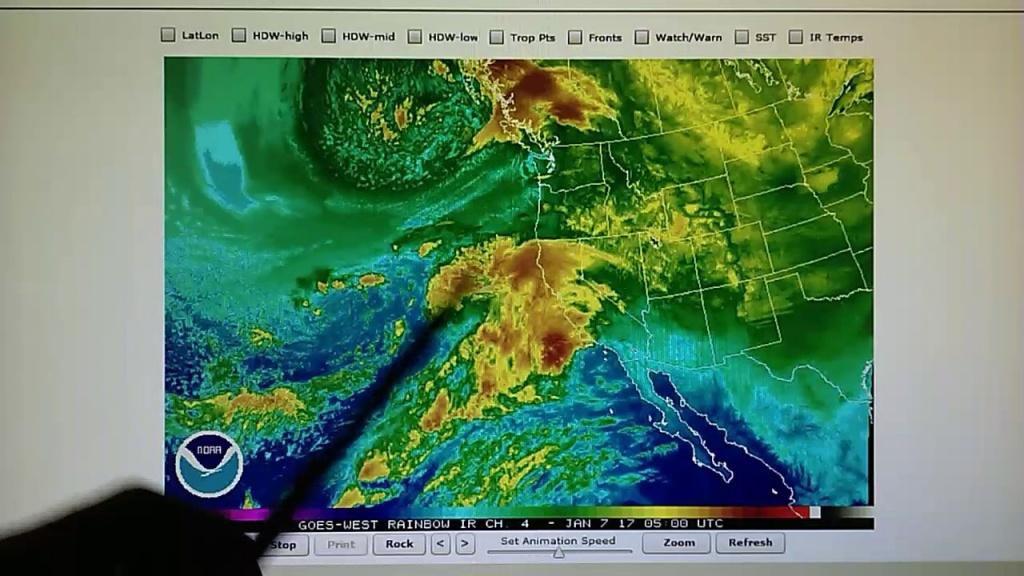 1-6-2017; Rain Forecasted For So. Ca; Doppler Radar Shows Microwave - Doppler Map California