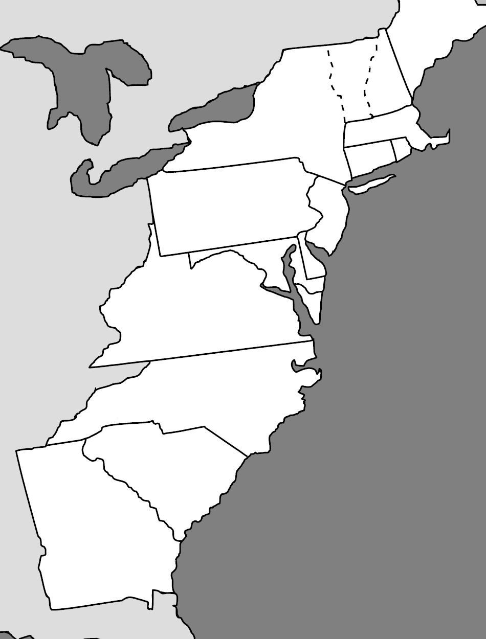 13 Colonies Map | Cc Cycle 3 - Geography | 13 Colonies, Map Quiz - 13 Colonies Blank Map Printable