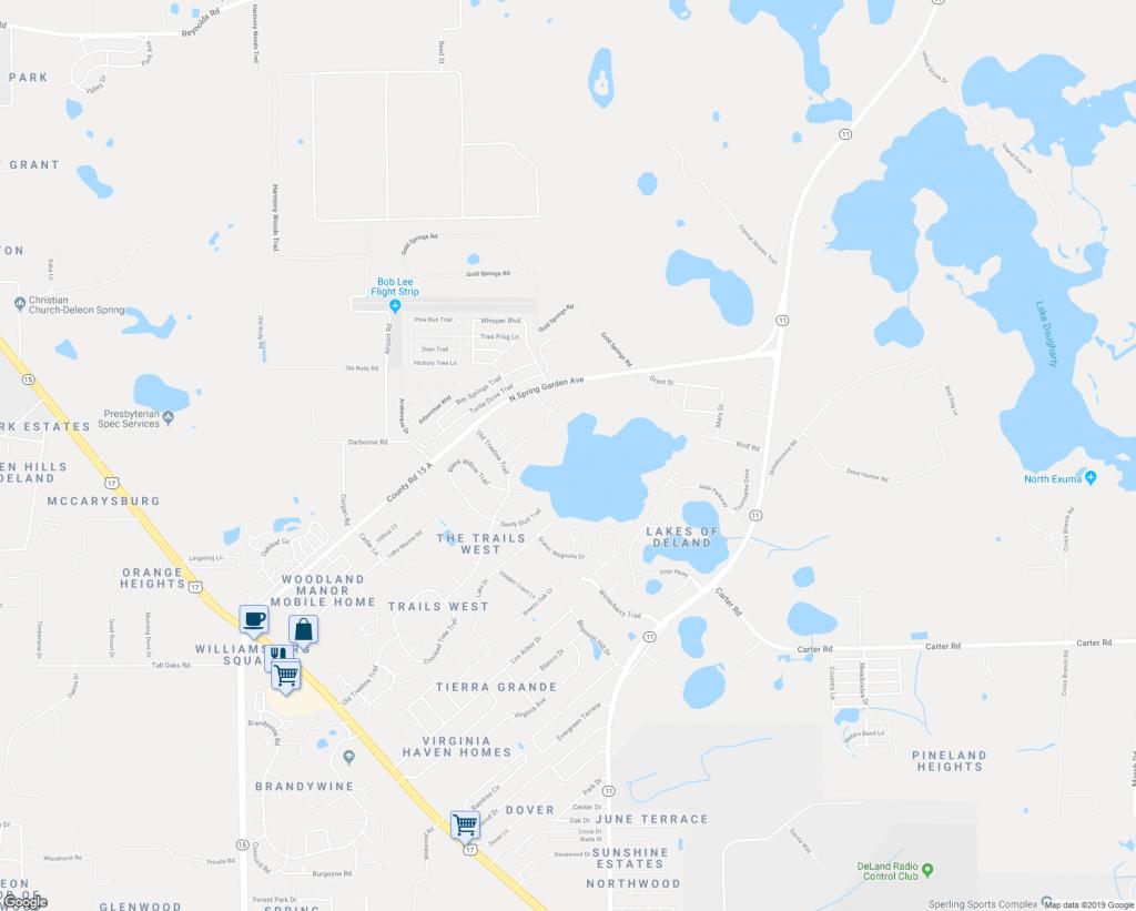 1400 Old Shoreline Trail, Deland Fl - Walk Score - Deland Florida Map