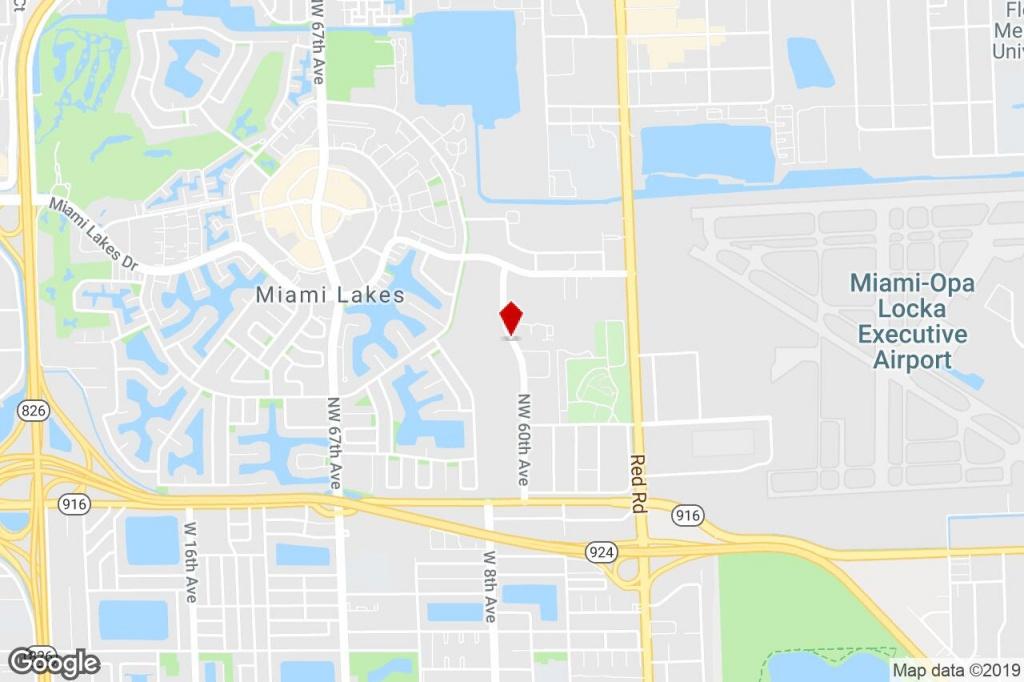 14620 Nw 60Th Avenue, Miami Lakes, Fl, 33014 - R&d Property For - Miami Lakes Florida Map