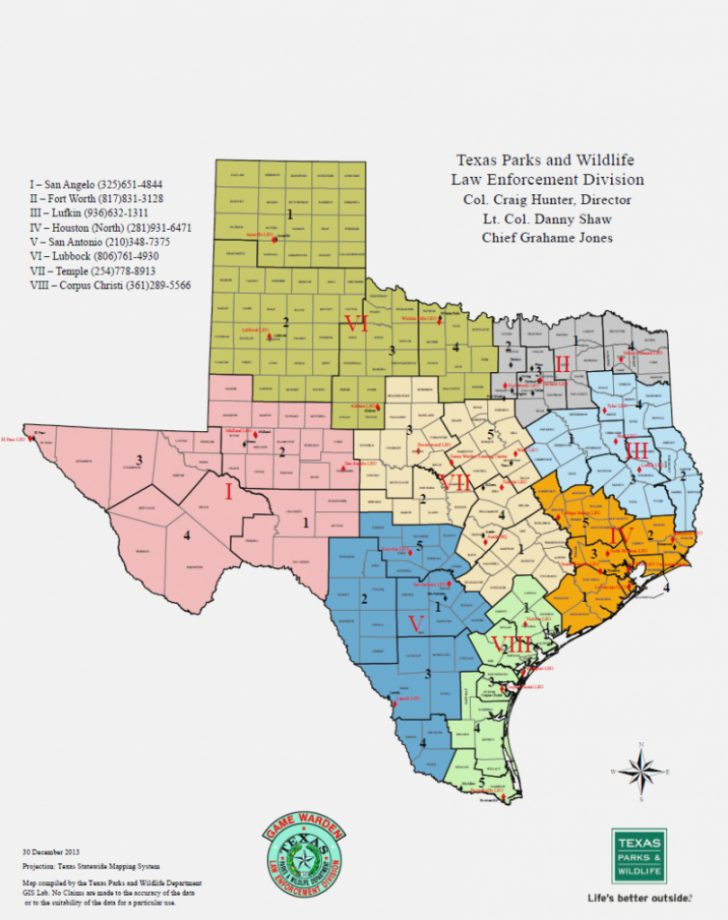 Texas Parks And Wildlife Map