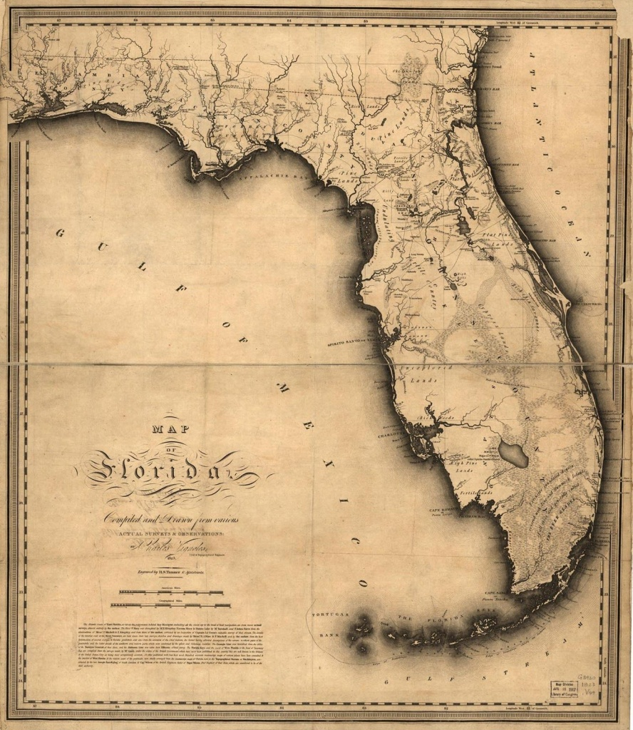 1823, Florida State Map, Florida, United States   Me Likey   Florida - Old Florida Maps Prints