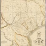 "1830 First Edition Of The Austin Map Of Texas: ""The Map Of Texas I   Old Texas Maps Prints"
