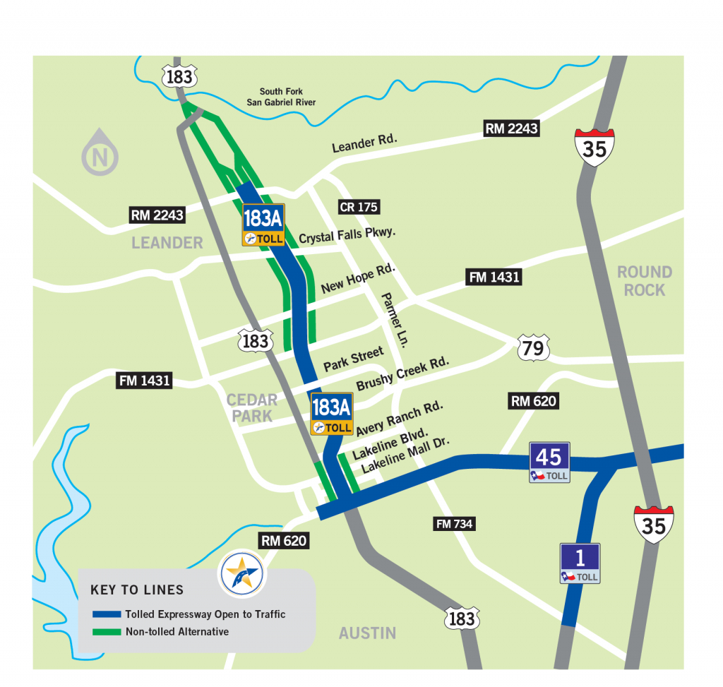 183A Toll | Central Texas Regional Mobility Authority - Texas Highway 183 Map