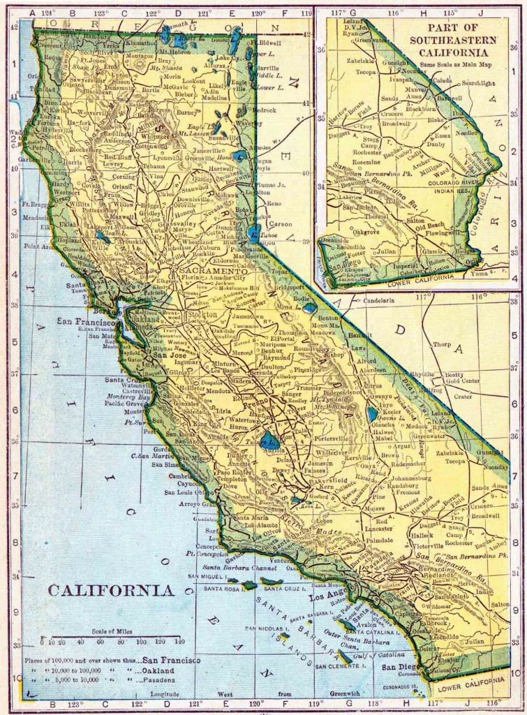 1910 California Census Map   Access Genealogy - California Demographics Map