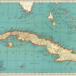 1940 Antique Cuba Map Vintage Map Of Cuba Gift Gallery Wall Art   Printable Map Of Cuba
