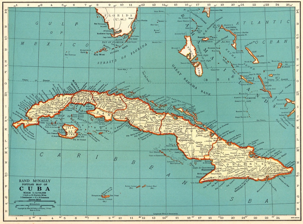 1940 Antique Cuba Map Vintage Map Of Cuba Gift Gallery Wall Art - Printable Map Of Cuba
