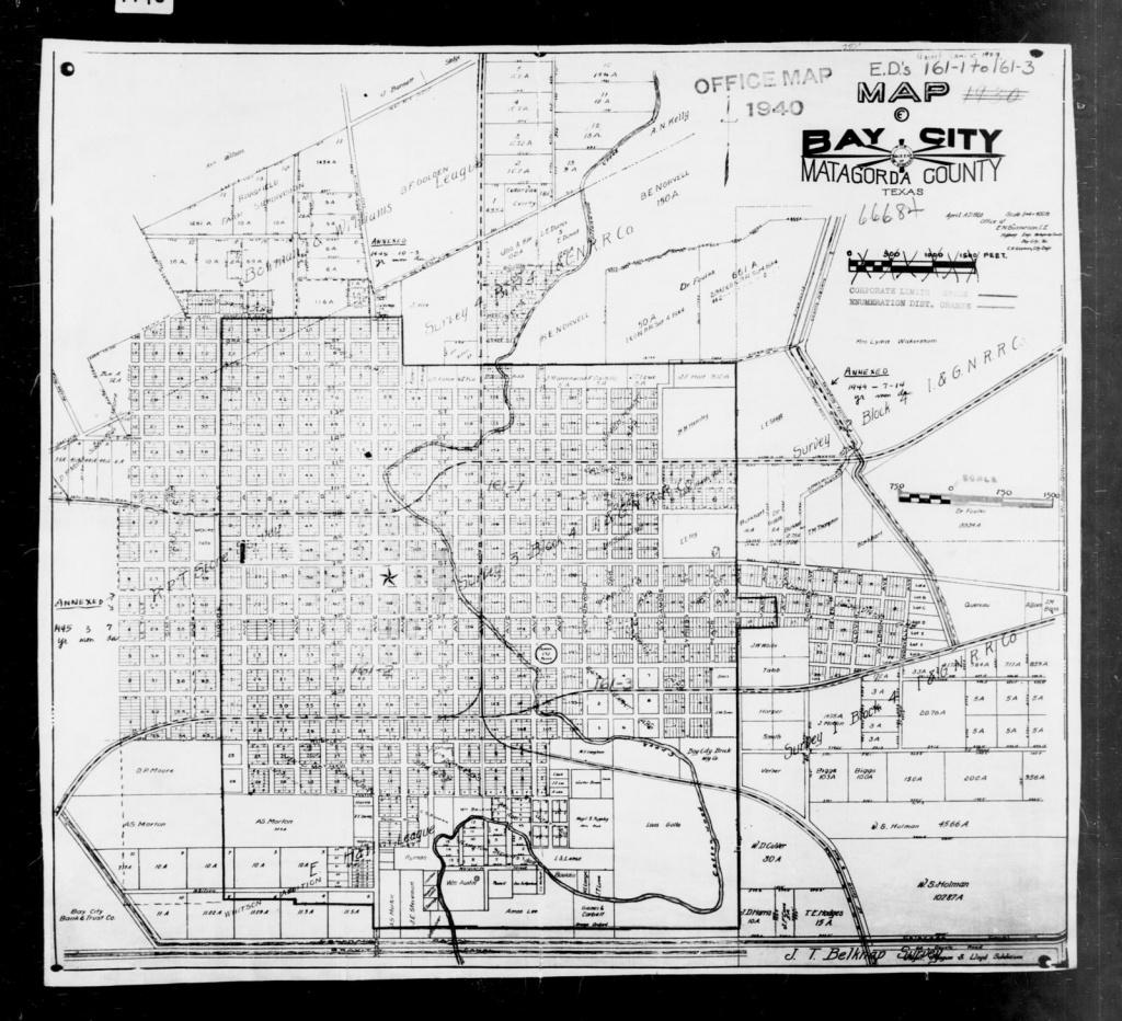1940 Census Enumeration District Maps - Texas - Matagorda County - Map Of Matagorda County Texas