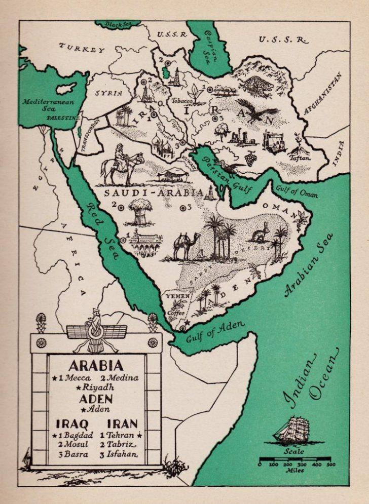 Printable Map Of Saudi Arabia