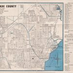 1952 Map Of North Dade County Florida   Etsy   Map Of Dade County Florida