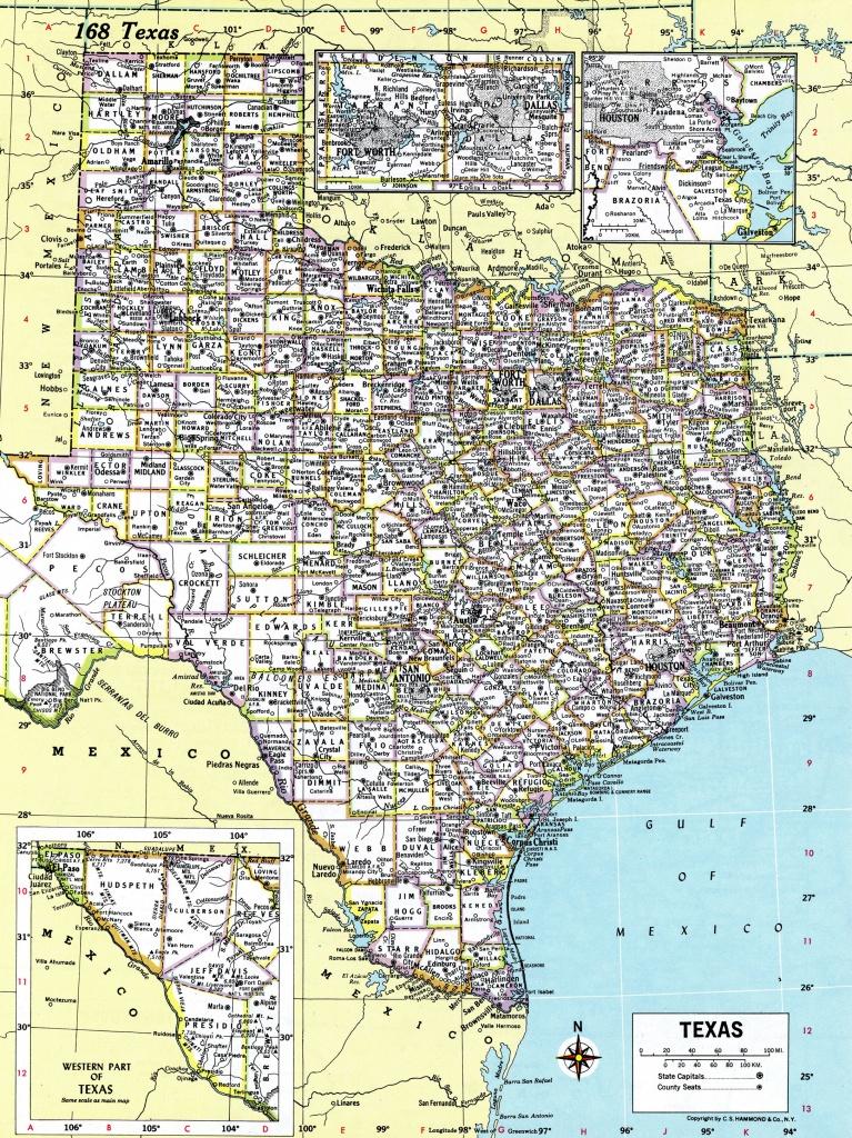 1980 Texas Map Antique Hammond Atlas Map Vintage Texas | Etsy - Texas Atlas Map