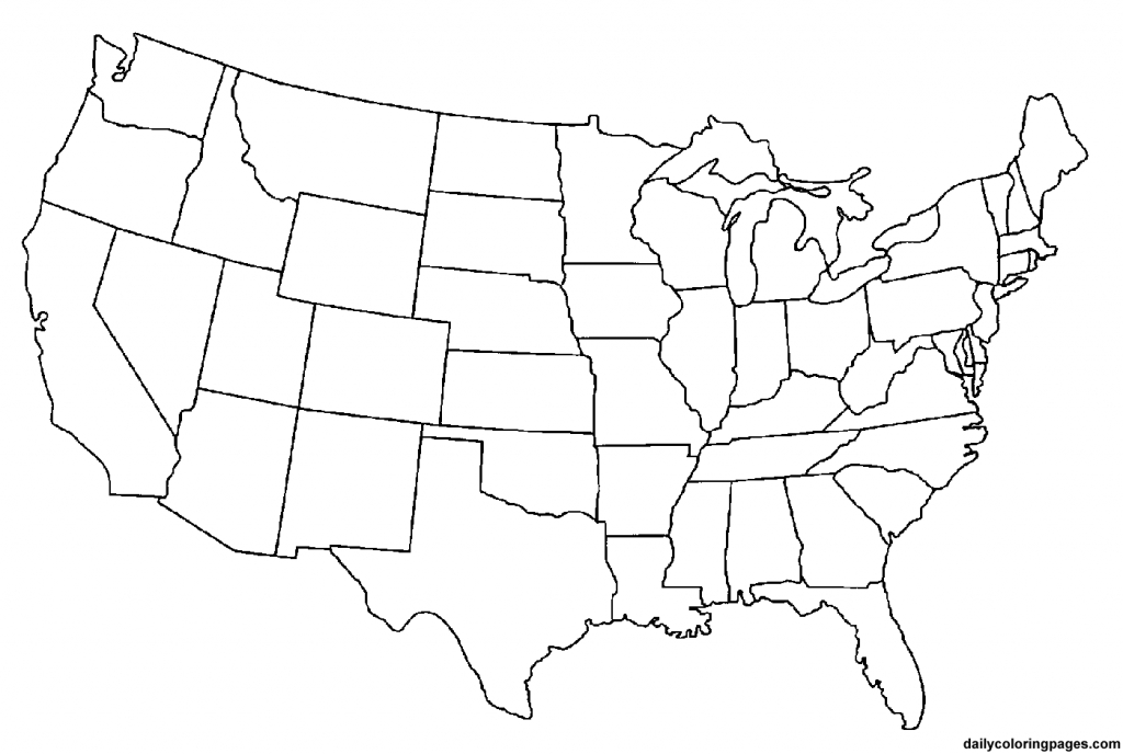 2 Page United States Map - 50 States Map Blank Printable