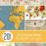 20 Free Vintage Map Printable Images | Remodelaholic #art   Vintage Map Printable