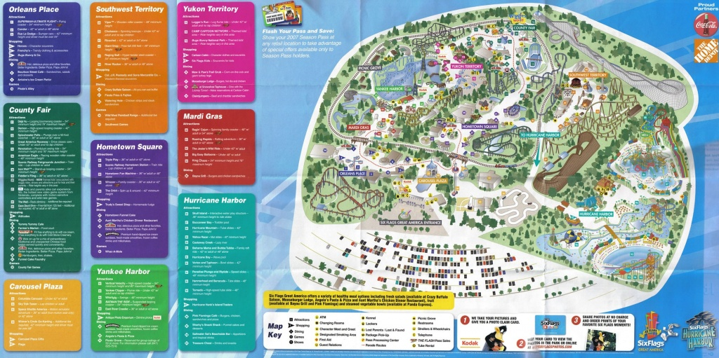 2007Parkmap Six Flags America Map 5 - World Wide Maps - Six Flags Great America Printable Park Map