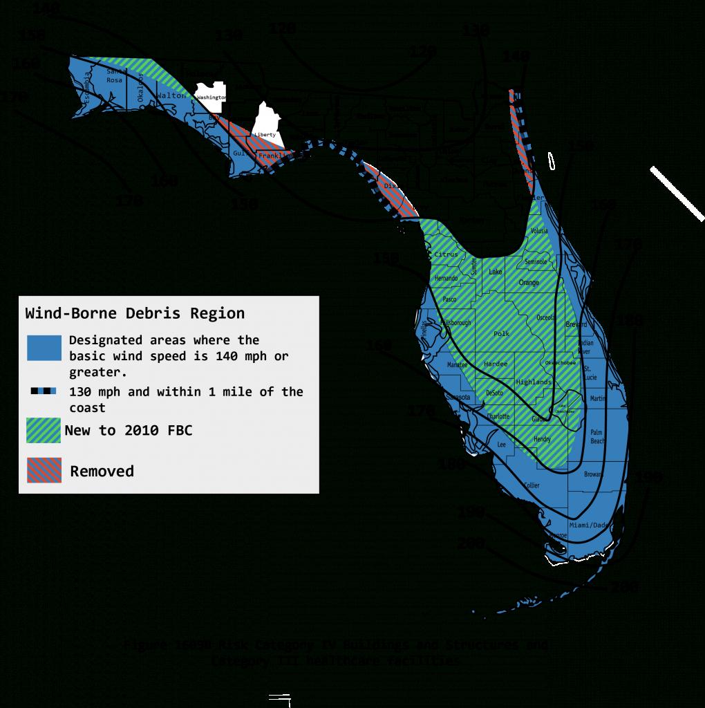 2010 Wind Maps - Florida Wind Speed Map