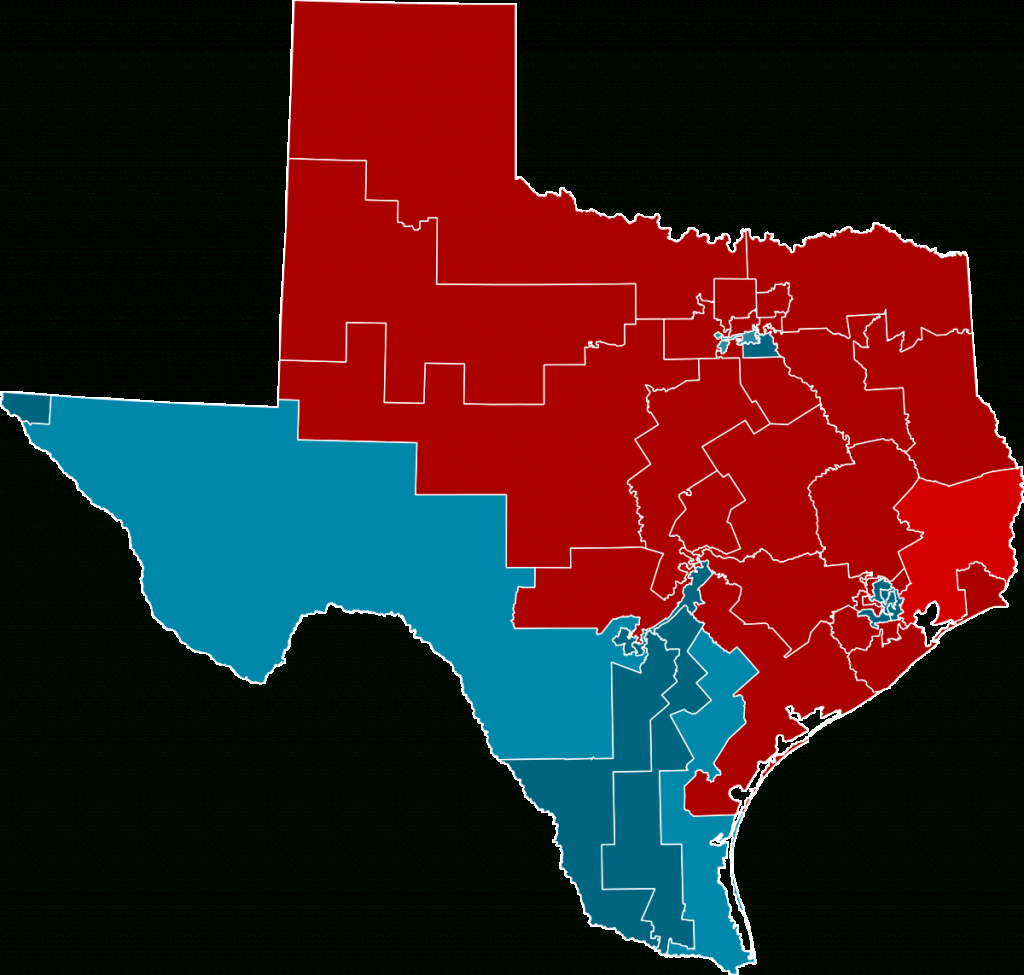 2012 United States House Of Representatives Elections In Texas - Texas State Representatives Map