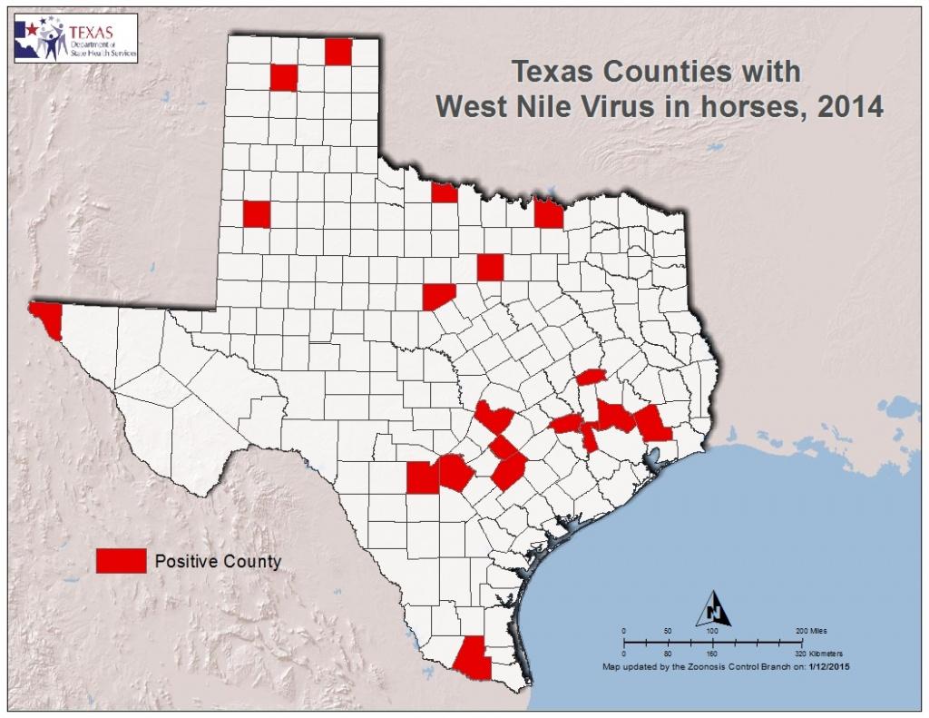 2014 Texas West Nile Virus Maps - Zika Virus Texas Map