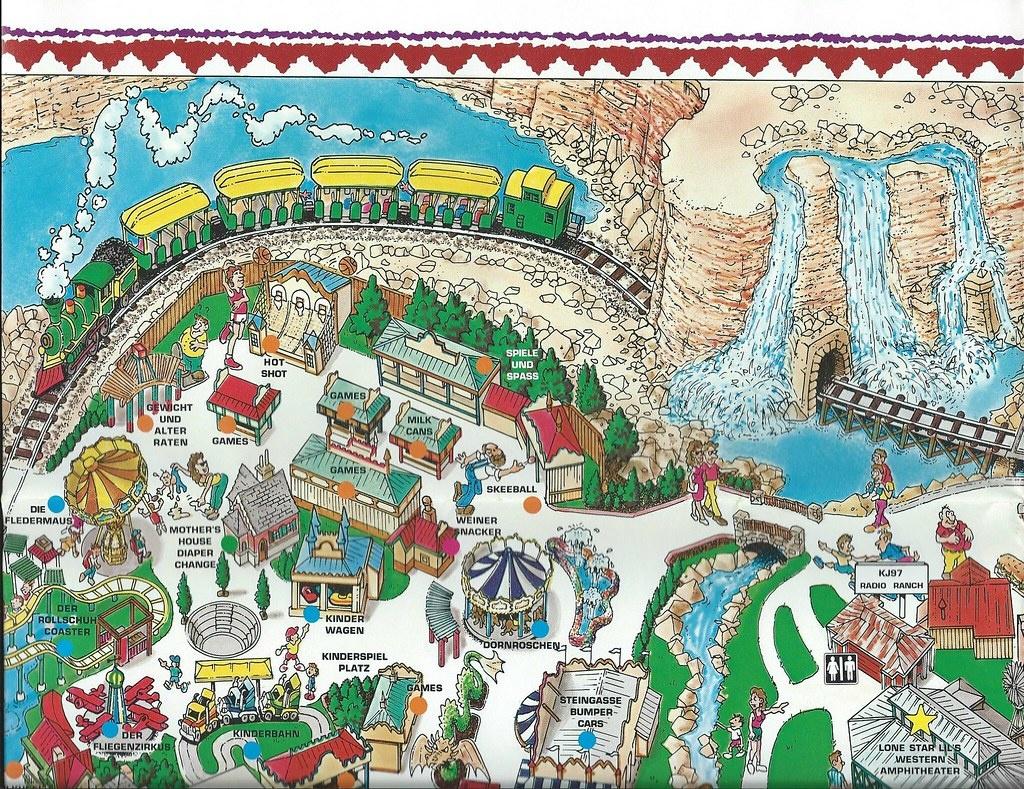 2015 June 6 | 1992 Fiesta Texas, San Antonio Map, Before Six… | Flickr - Fiesta Texas Map