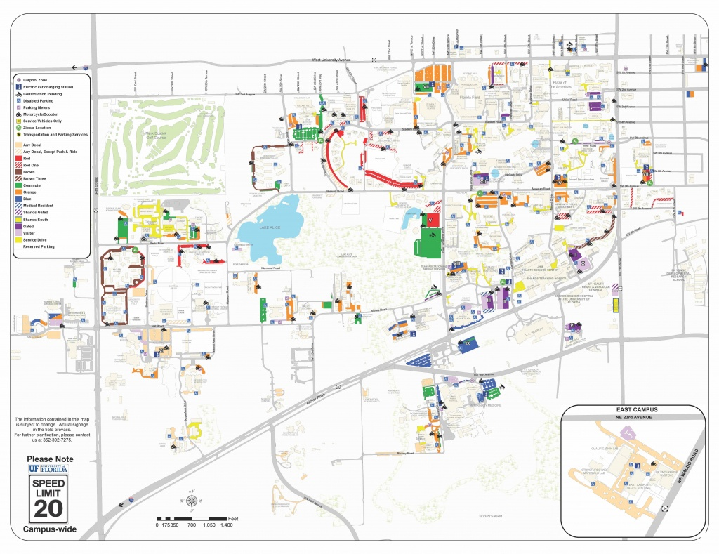2018-19 Pdf Map - Transportation And Parking Services Transportation - Map Of Gainesville Florida Area