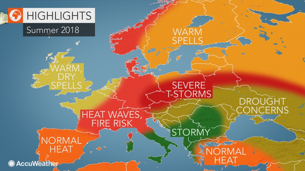 2018 Europe Summer Forecast: Intense Heat To Seize France To Germany - Southern California Heat Map