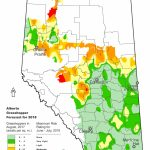 2018 Grasshopper Forecast | Alberta.ca   Printable Map Of Alberta
