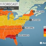 2018 Spring Allergy Forecast: Pollen Levels To Soar Early In The   Pollen Map Texas
