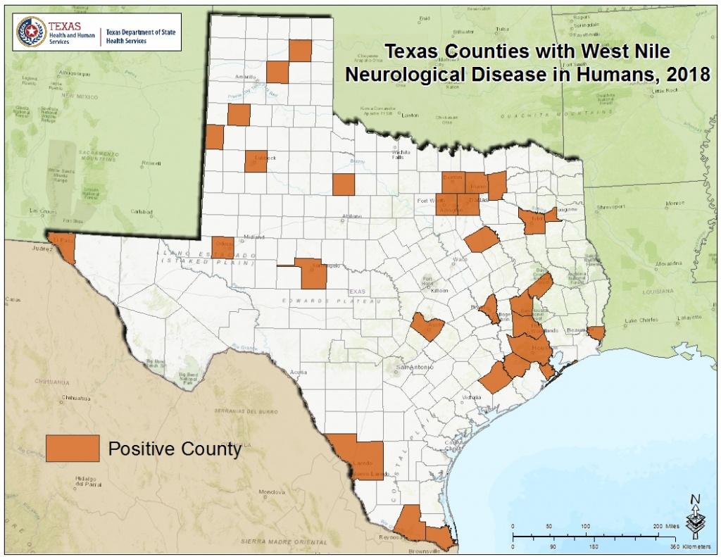 2018 Texas West Nile Virus Maps - West Nile Virus Texas Zip Code Map