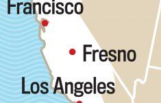 California Coast Weather Map