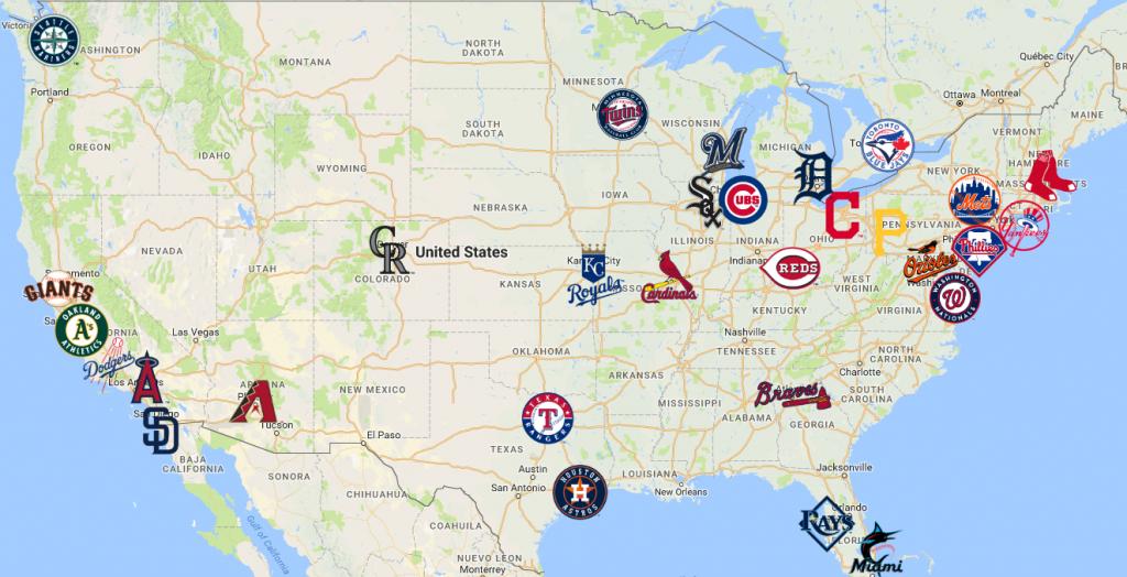 2019 Map Of Mlb Teams | Baseball | Mlb Teams, Mlb, Sports Logo - California Baseball Teams Map