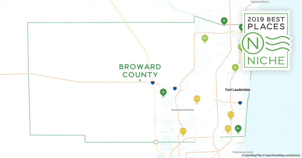 2019 Safe Places To Live In Broward County, Fl - Niche - Coral Springs Florida Map
