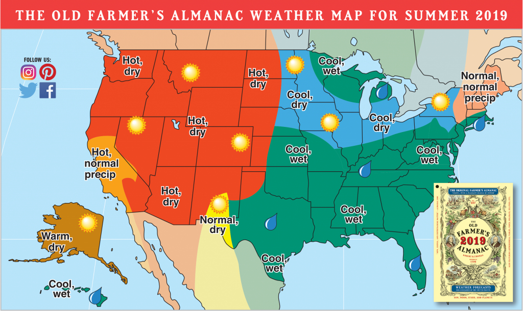 2019 Summer Forecast: Hotter Temps Out West, Rain For Others | The - Florida Weather Map Temperature
