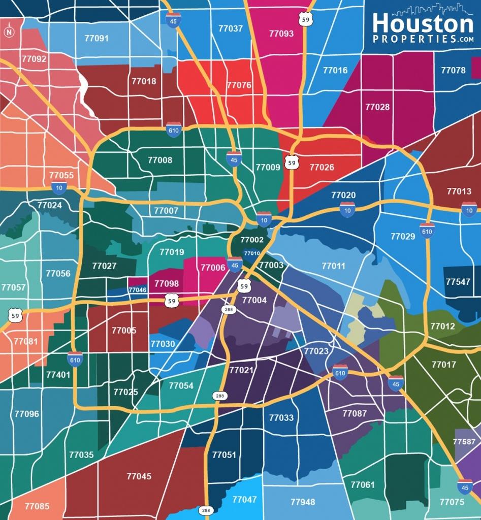 2019 Update: Houston Texas Zip Code Map | Houstonproperties - Houston Zip Code Map Printable