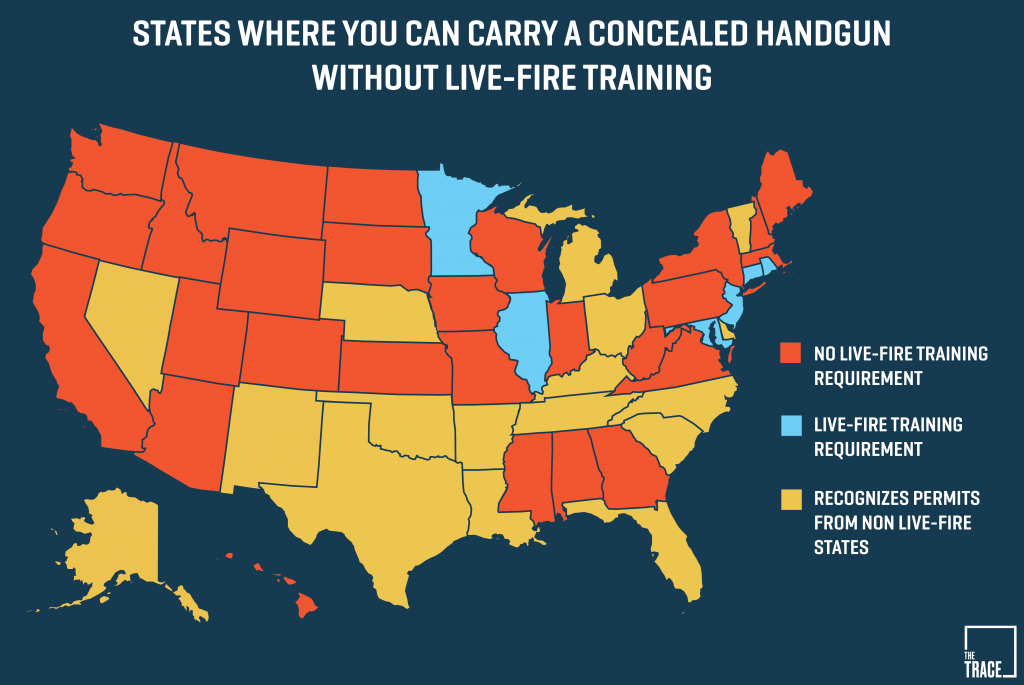 26 States Will Let You Carry A Concealed Gun Without Making Sure You - Texas Reciprocity Map 2017