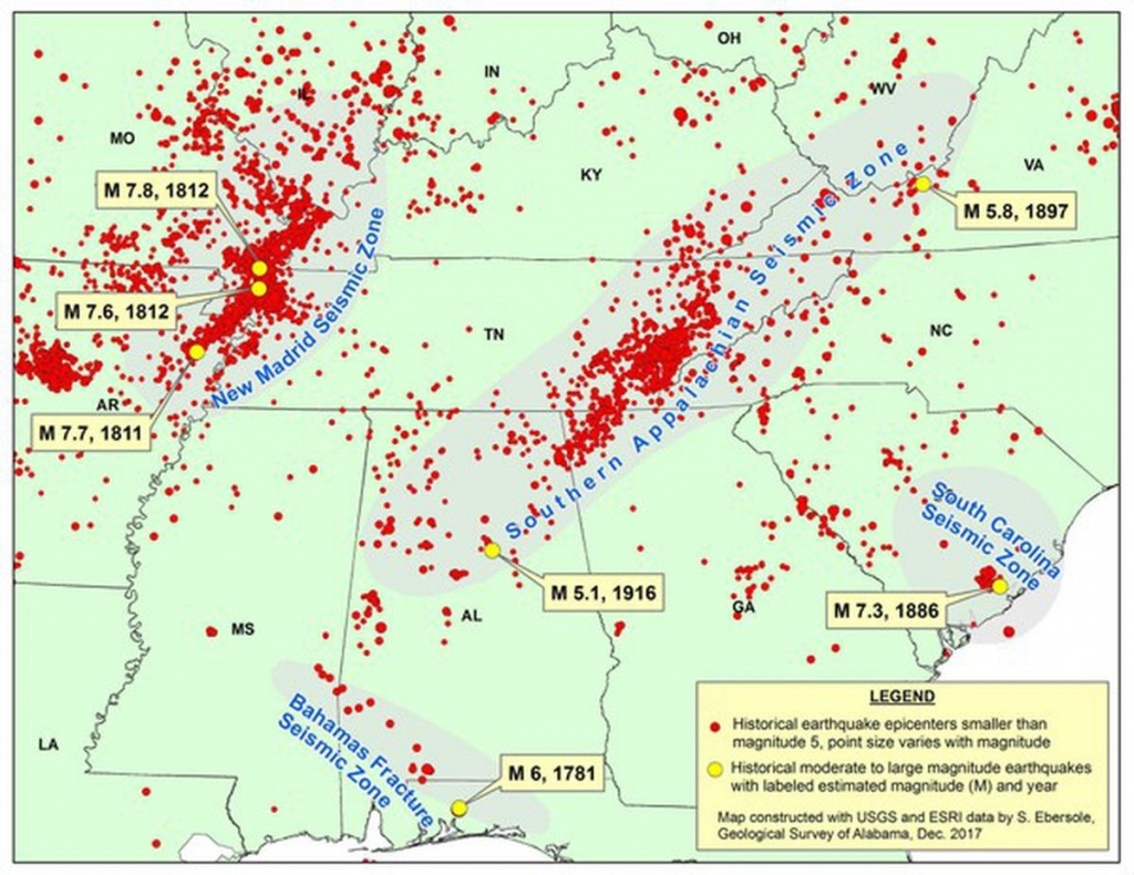 3 Earthquakes In A Week Still 'normal Seismic Activity' - Al - Florida Earthquake Map