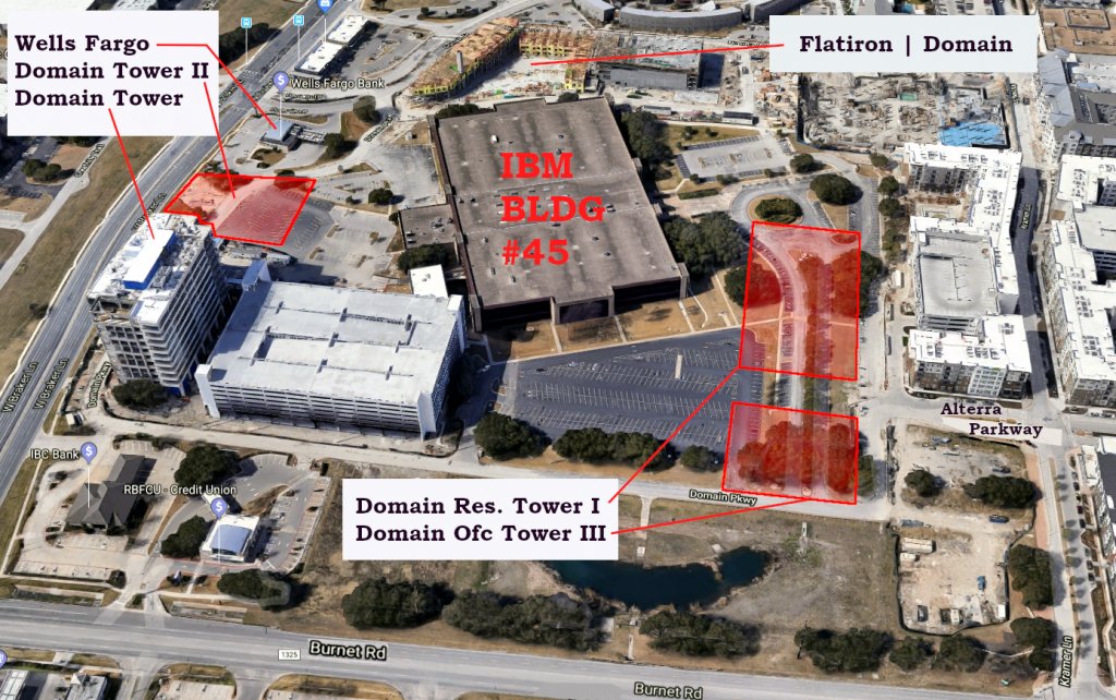 3 New Towers Headed For The Domain – Towers - Map Of The Domain In Austin Texas