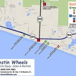 30A & Destin Beach Access   Destin Wheels Rentals In Destin, Fl   Destin Florida Map Of Beaches