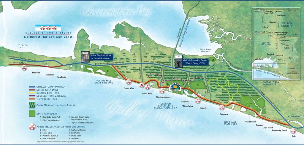 30A Map Florida - Google Search   Maps   Map, Search - Northwest Florida Beaches Map