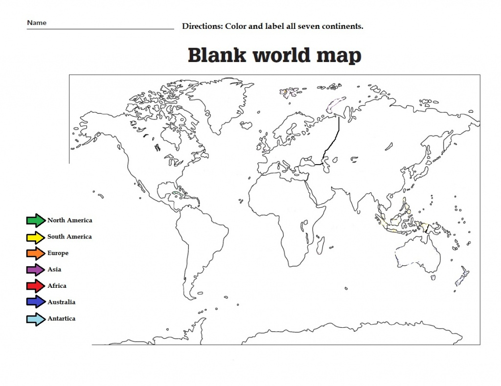 38 Free Printable Blank Continent Maps | Kittybabylove - Free Printable World Map Worksheets