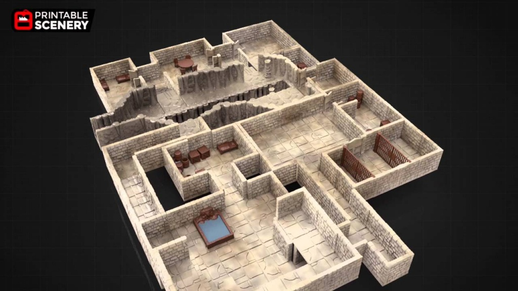 3D Printable Dungeon Tiles - Youtube - Printable D&d Map Tiles