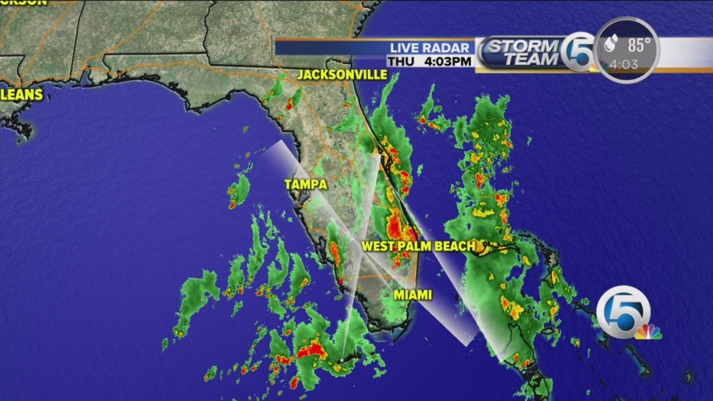 4 P.m. Thursday Weather Forecast For South Florida - Youtube - Florida Weather Forecast Map