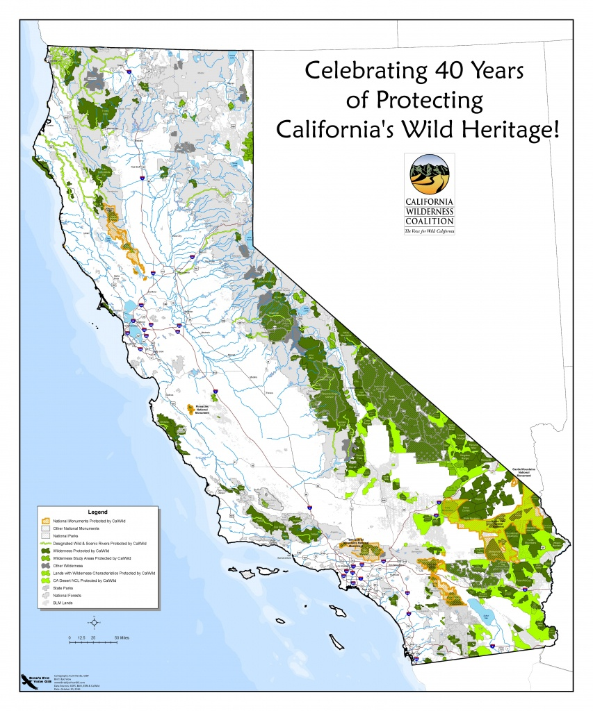 40Th Anniversary Dinner Recap – California Wilderness Coalition - California Wilderness Map