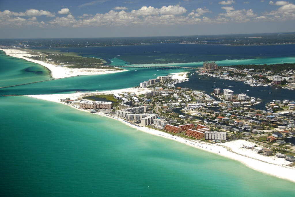 5 Emerald Coast Beaches With Sugar White Sand | Visit Florida - Where Is Destin Beach Florida On The Map