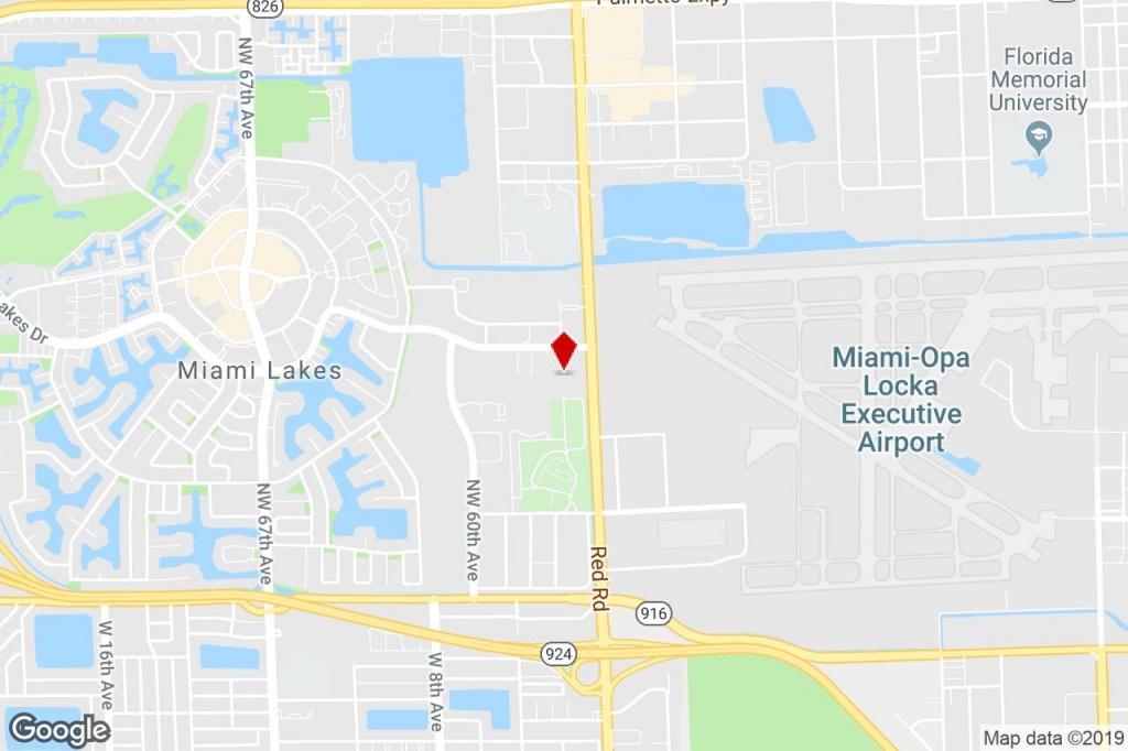 5770 Miami Lakes Dr, Miami Lakes, Fl, 33014 - Warehouse Property For - Miami Lakes Florida Map
