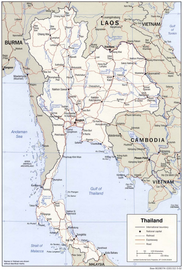 6 Free Maps Of Thailand - Asean Up - Printable Map Of Thailand