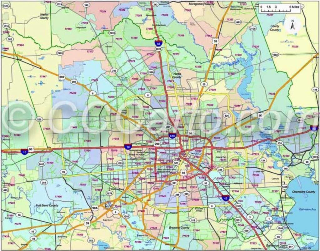 600 Dpi Harris County Zip Codes | Houston Zip Code Map | Harris - Houston Zip Code Map Printable