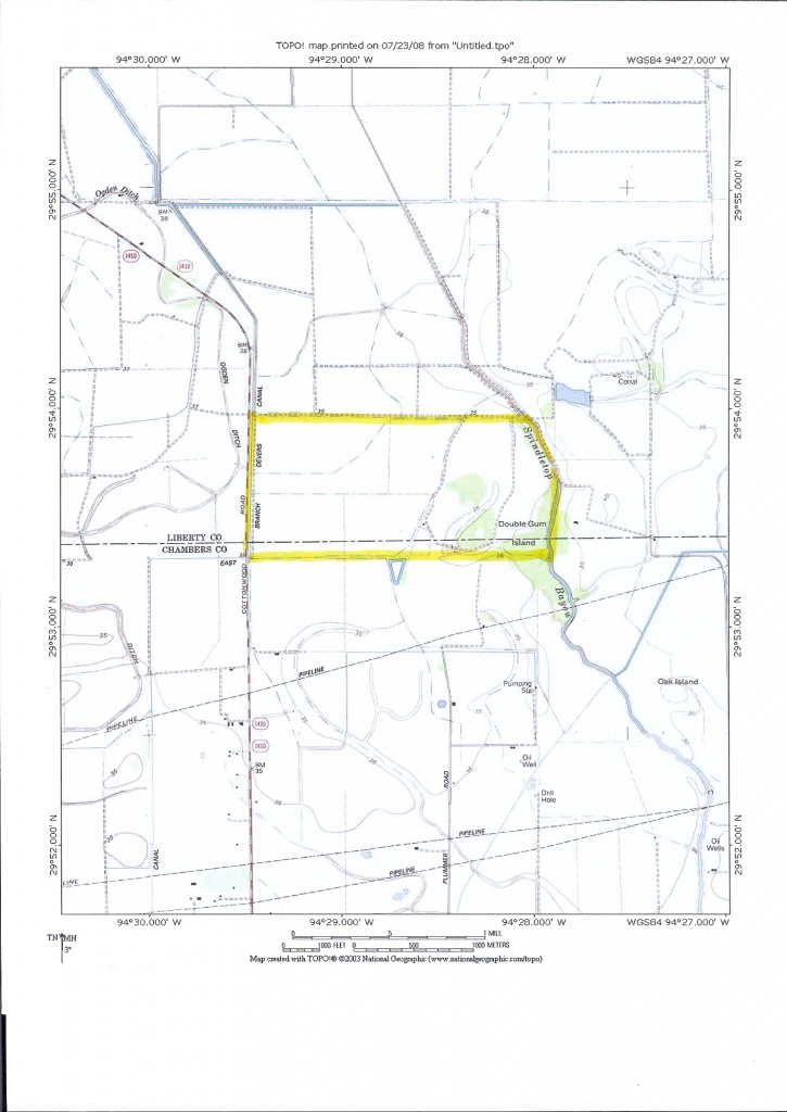 740 Acres In Liberty County, Texas - Winnie Texas Map