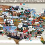 79 Weird Roadside Attractions Road Trip[Infographic]   Titlemax   California Roadside Attractions Map