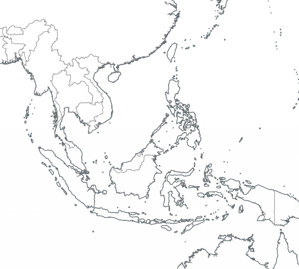 8 Free Maps Of Asean And Southeast Asia - Asean Up - Printable Blank Map Of Southeast Asia