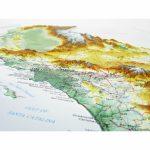 951   California Raised Relief Map   3D Map Of California