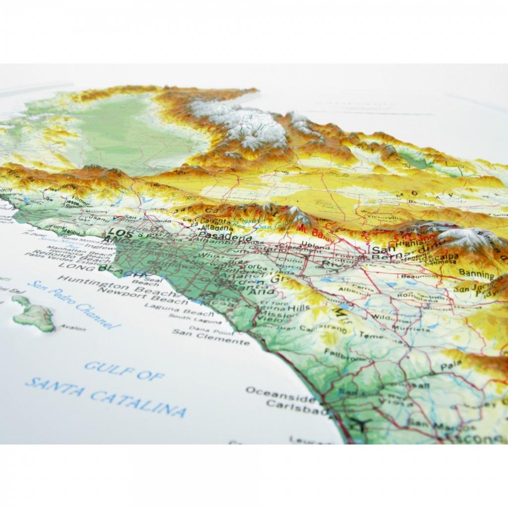 951 - California Raised Relief Map - 3D Map Of California